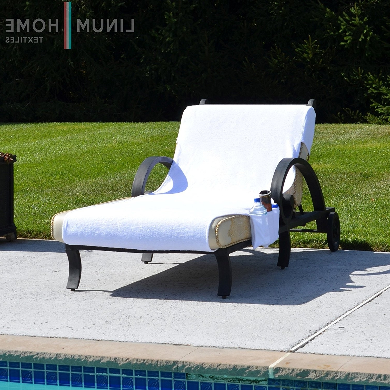 Outdoor Chaise Lounge Covers For Best And Newest Amazon: Linum Home Textiles Cl00 Swp Standard Size Chaise (View 14 of 15)