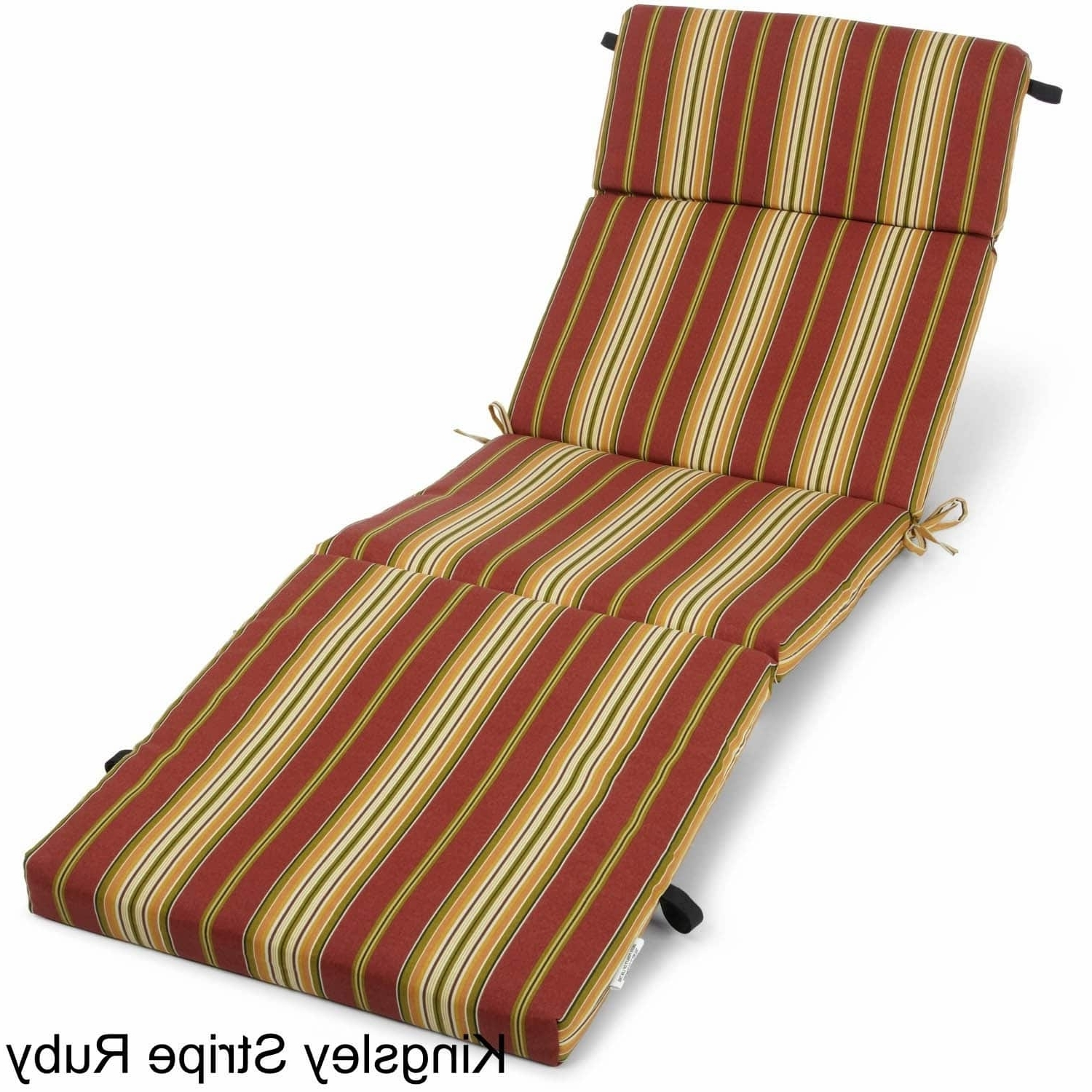 Outdoor Chaise Lounge Cushion – Free Shipping Today – Overstock With Fashionable Outdoor Chaise Cushions (View 7 of 15)