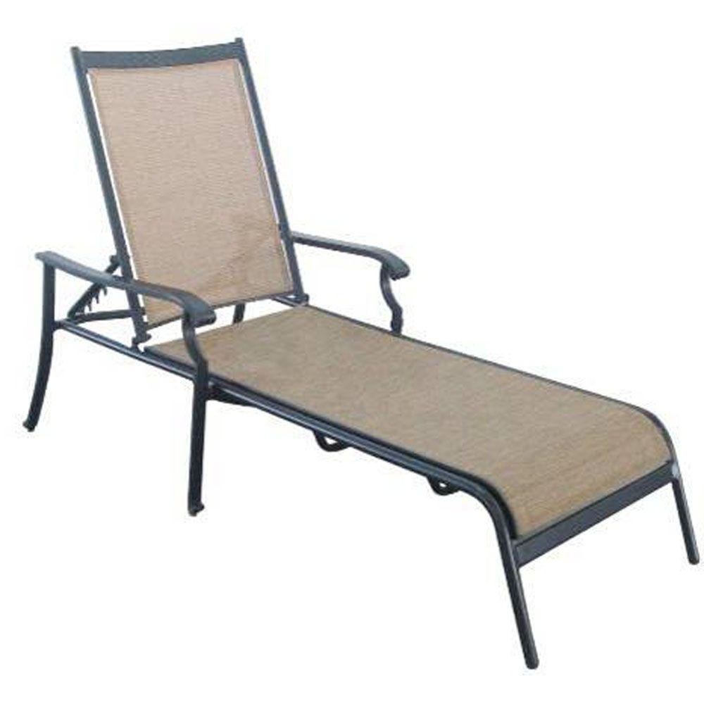 Outdoor Mesh Chaise Lounge Chairs Pertaining To Most Up To Date Hampton Bay Solana Bay Patio Chaise Lounge As Acl 1148 – The Home (View 6 of 15)