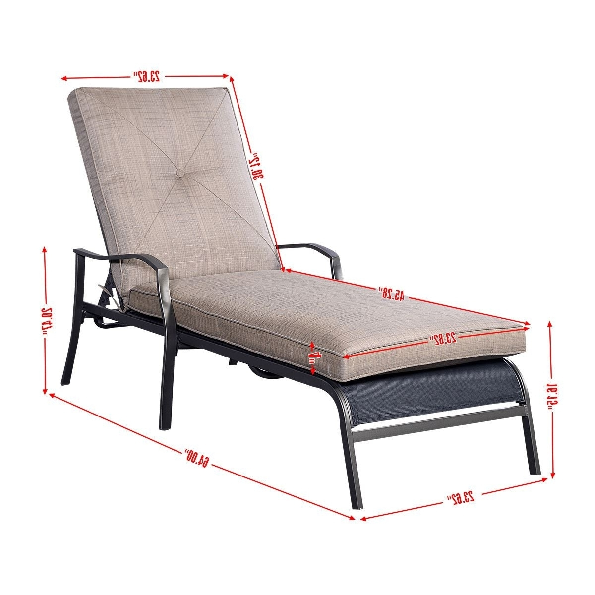 Showing Photos Of Martha Stewart Outdoor Chaise Lounge Chairs View