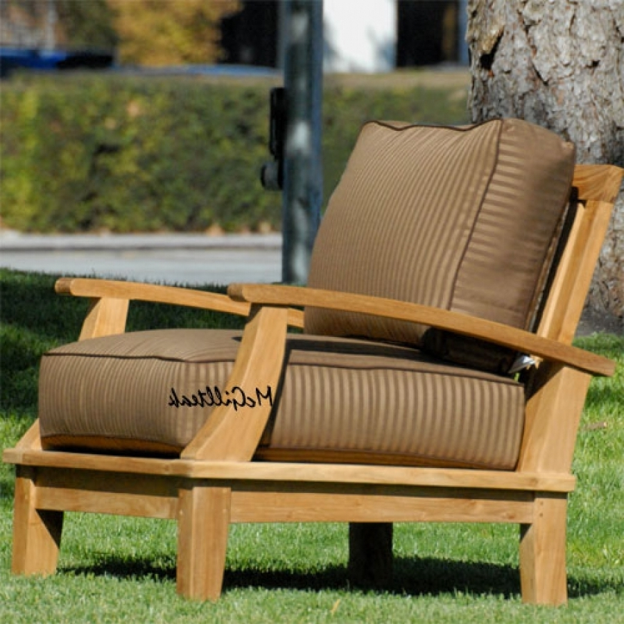 Outdoor Patio Deep Seating Lounge Chair – Bali Lounge Chair Regarding Favorite Teak Chaise Lounge Cushions (View 7 of 15)