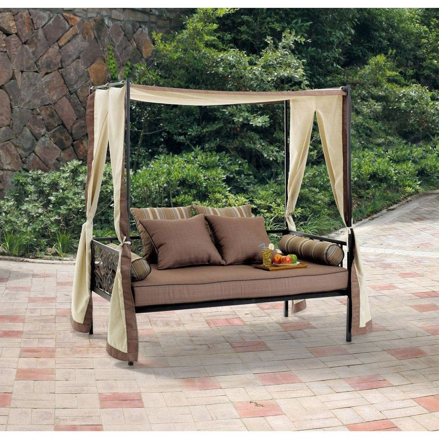 Outdoor Patio Furniture Day Bed Lounge With Canopy, Sun Shade Only Inside Most Popular Outdoor Sofas With Canopy (View 11 of 15)