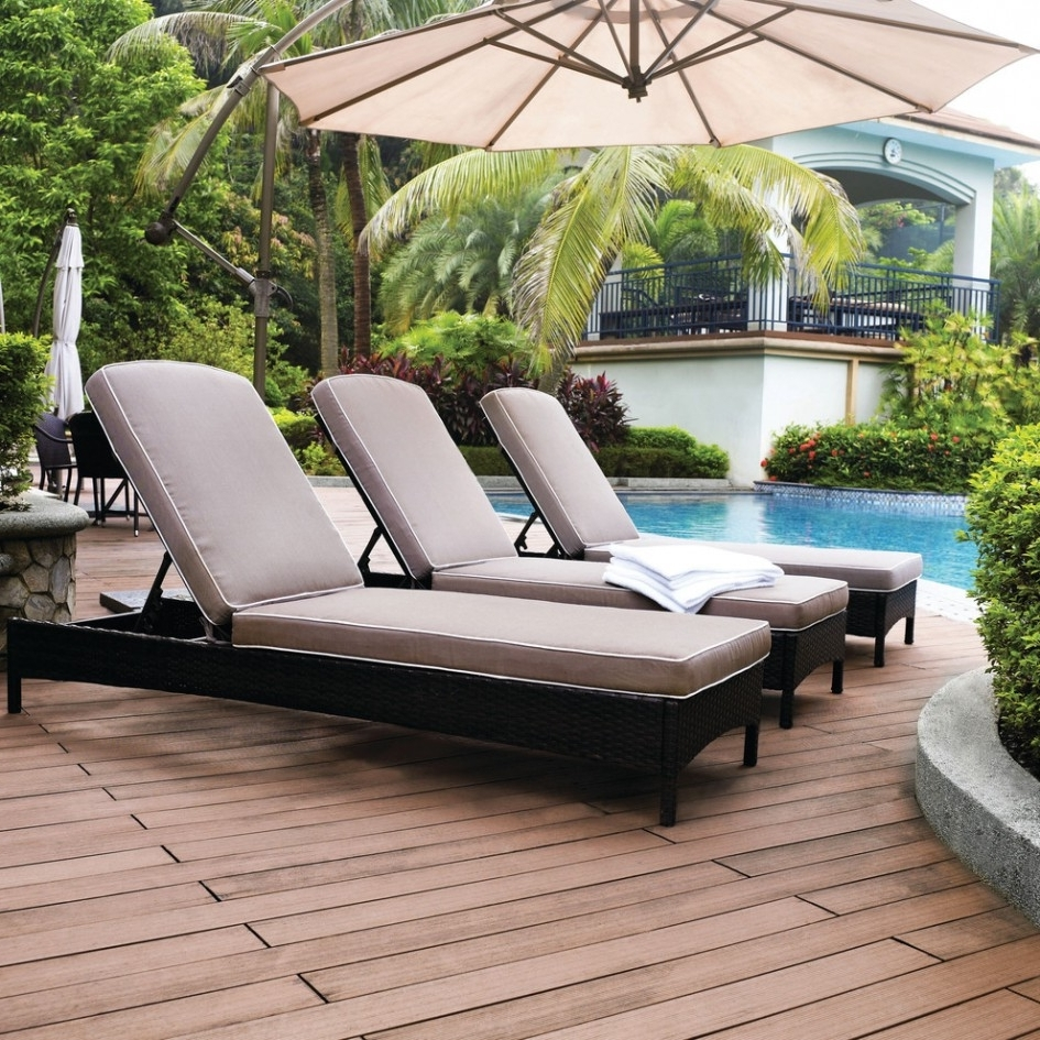 Outdoor Pool Chaise Lounge Chairs Regarding Best And Newest Sleek Outdoor Chaise Lounge Patio & Outdoor Double Chaise Outdoor (View 9 of 15)