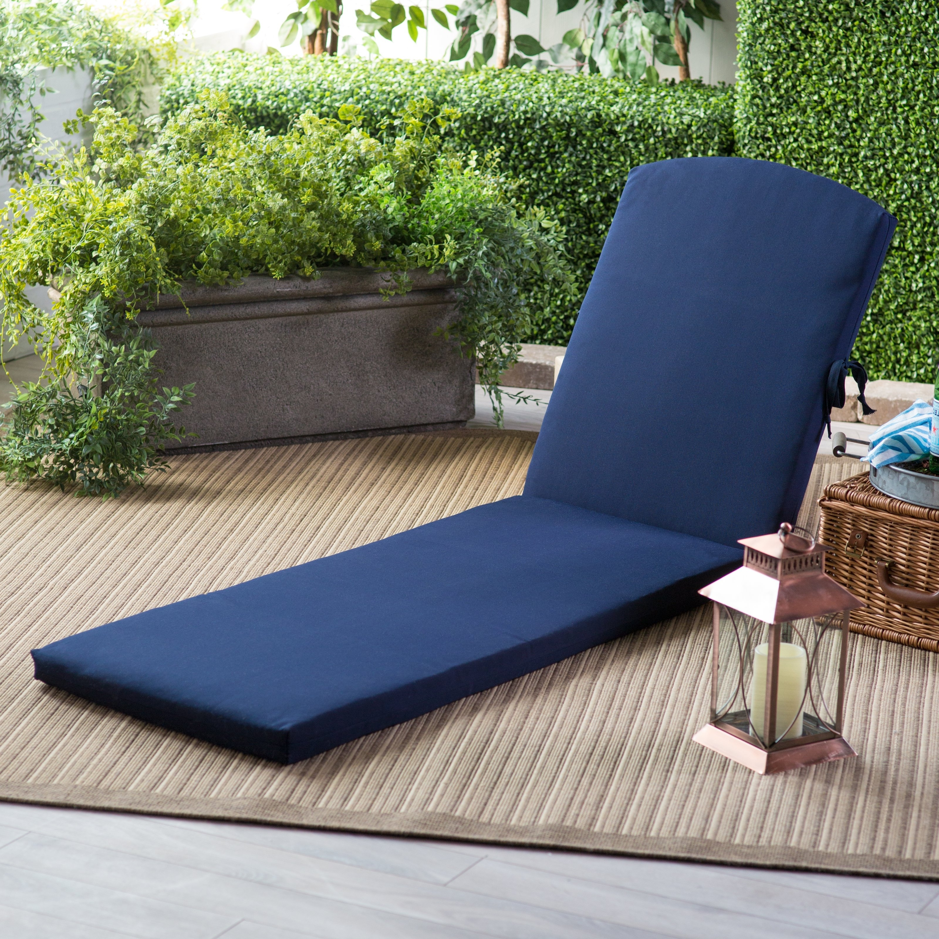 Outdoor : Tufted Chaise Bench Patio Furniture Chaise Lounge With 2017 Blue Outdoor Chaise Lounge Chairs (View 9 of 15)