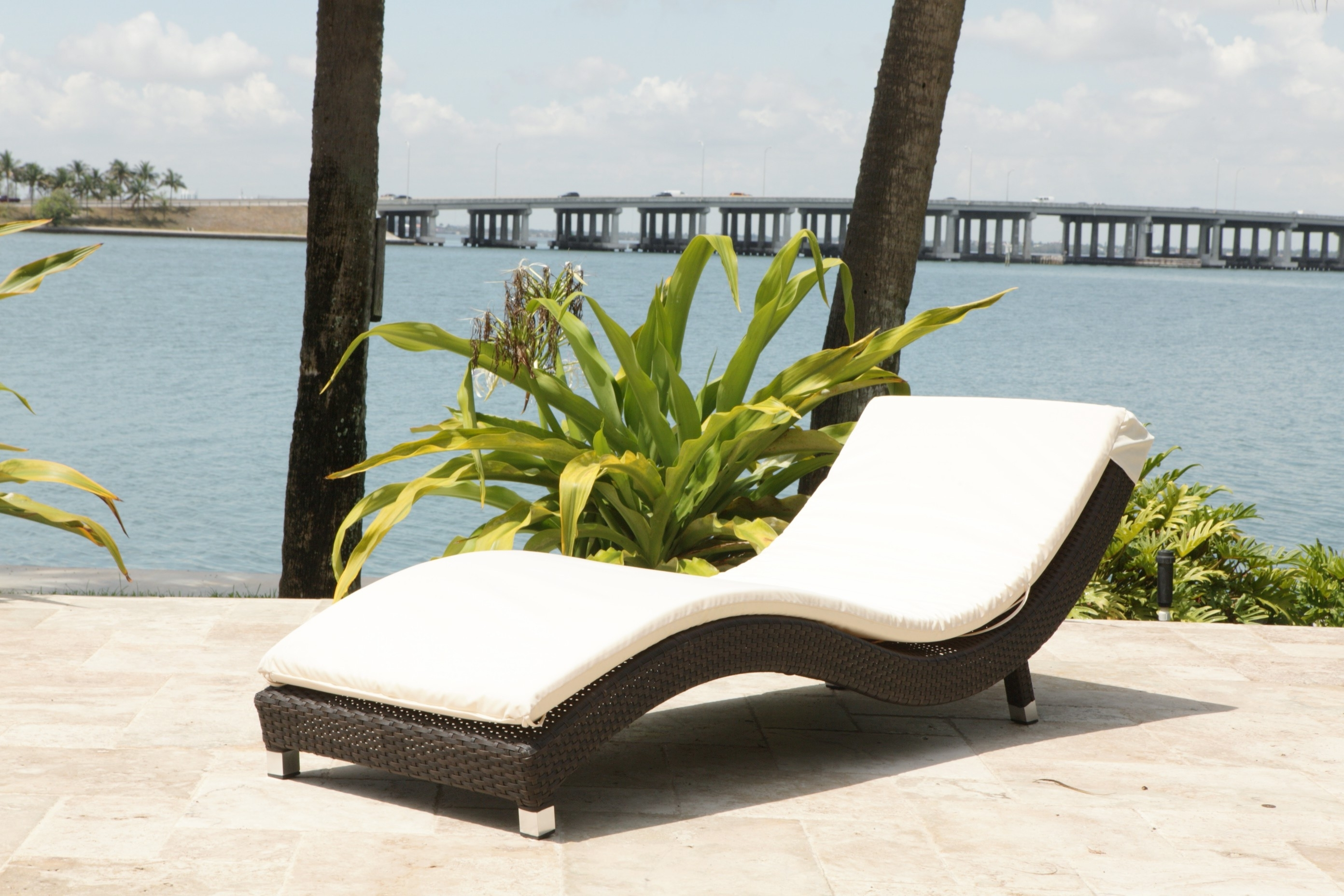 Outdoor : White Tufted Chaise Lounge Discount Indoor Chaise With Popular Outdoor Lounge Chaises (View 5 of 15)