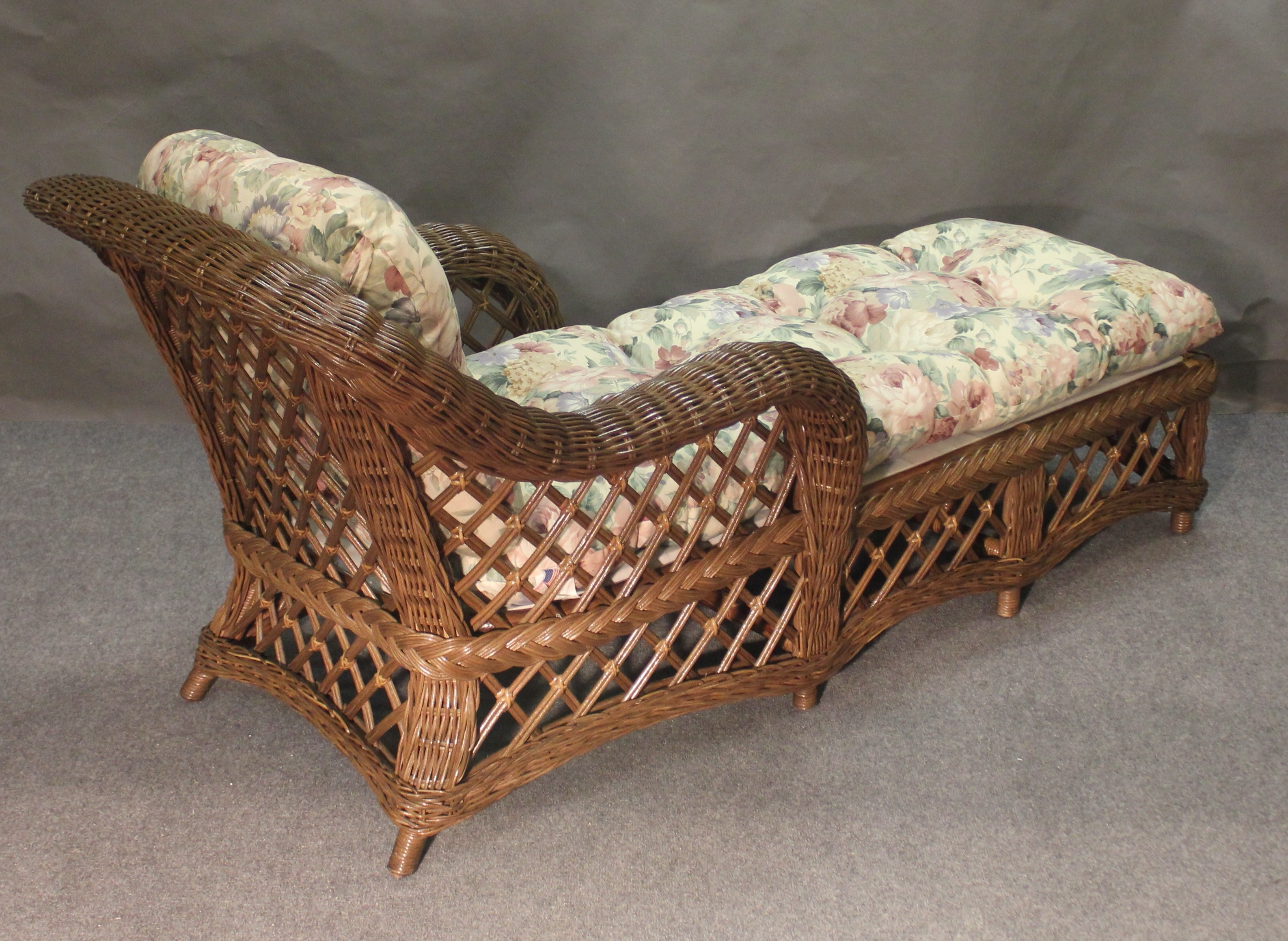 Outdoor Wicker Chaise Lounges Pertaining To Widely Used Cape Cod Wicker Chaise Lounge, All About Wicker (View 9 of 15)