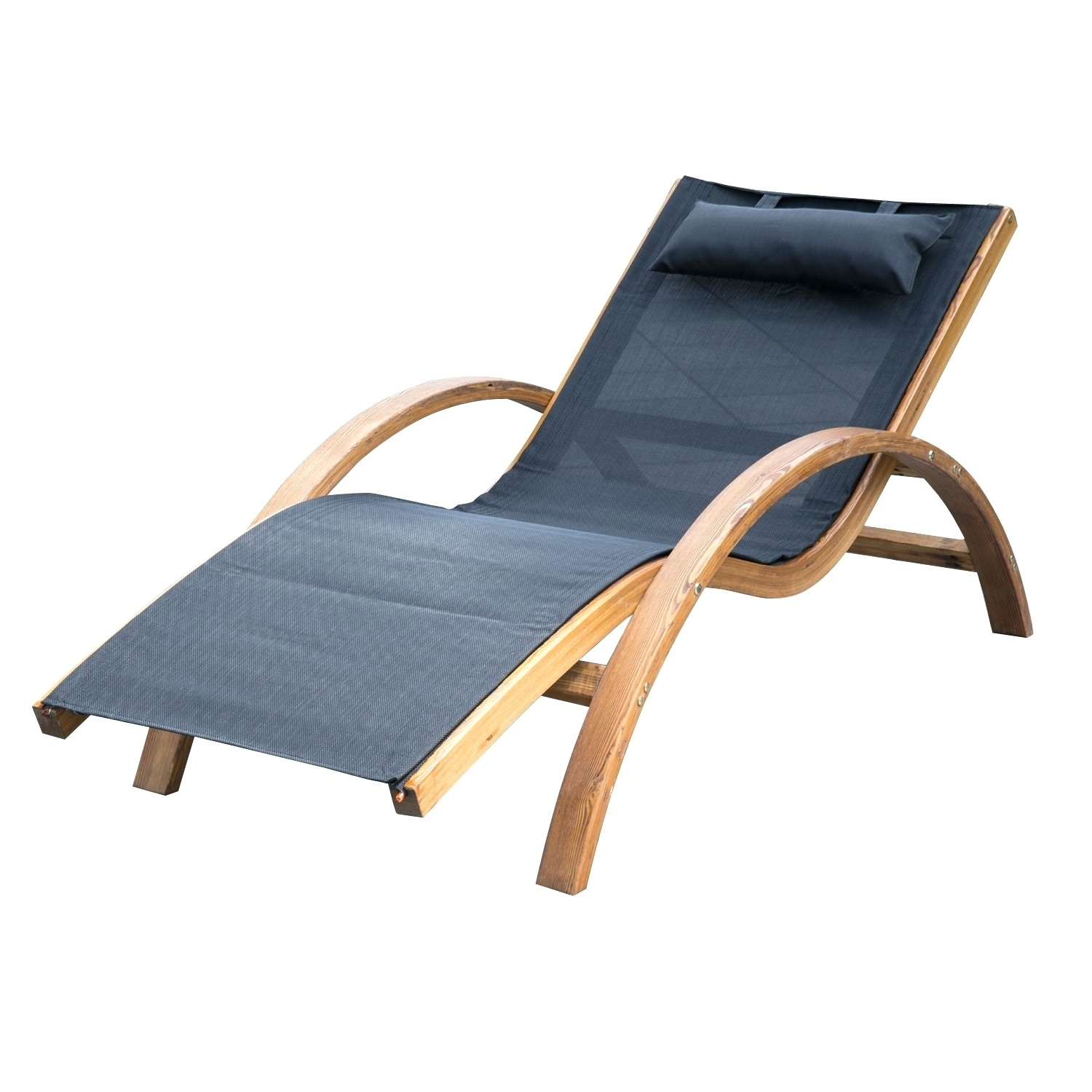 Outsunny Outdoor Mesh Lounger With Cushion Black Green Resin Throughout Well Liked Green Resin Chaise Lounge Chairs (View 8 of 15)