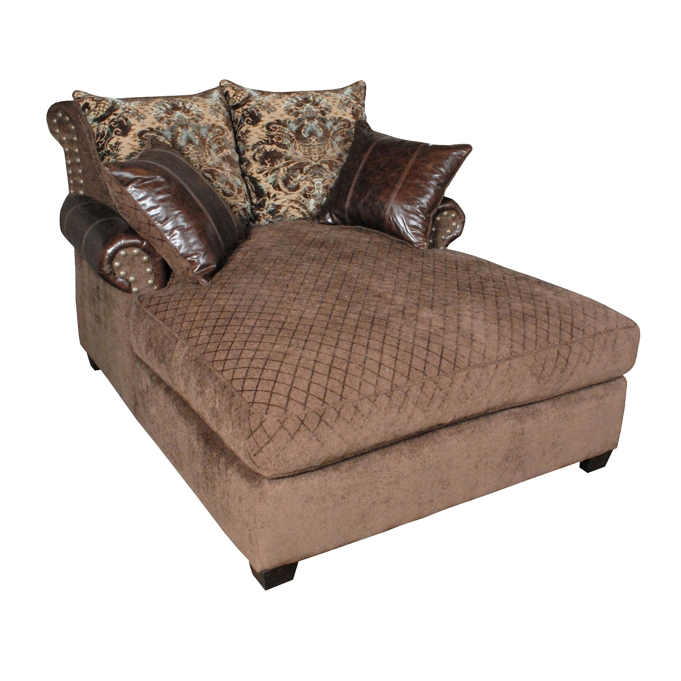 Oversized Chaise Lounge – Decofurnish For Well Known Brown Chaise Lounges (View 13 of 15)