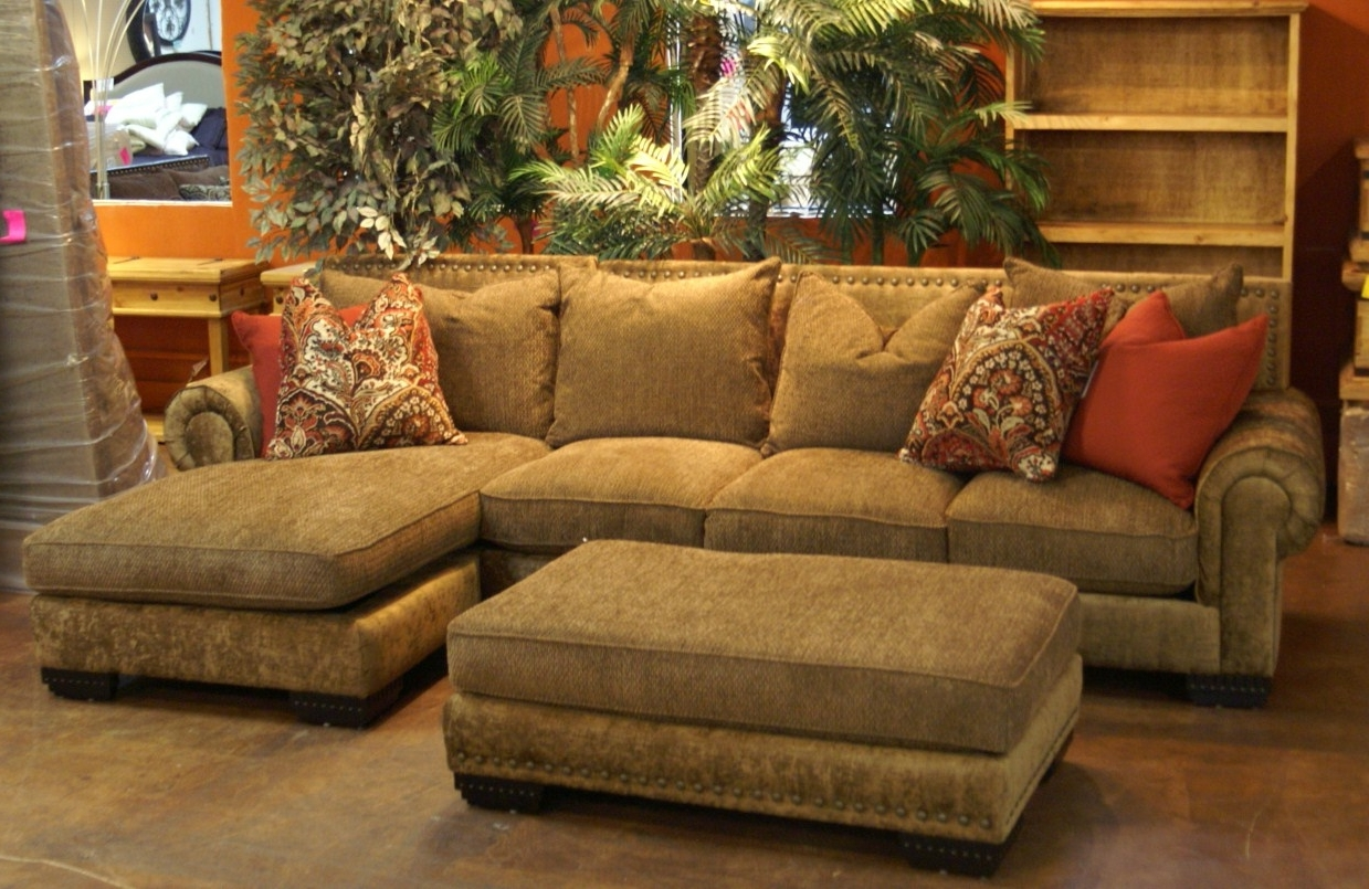 Oversized Chaises In Current L Shaped Brown Velvet Oversized Sofa With Chaise And Rectangle (View 13 of 15)