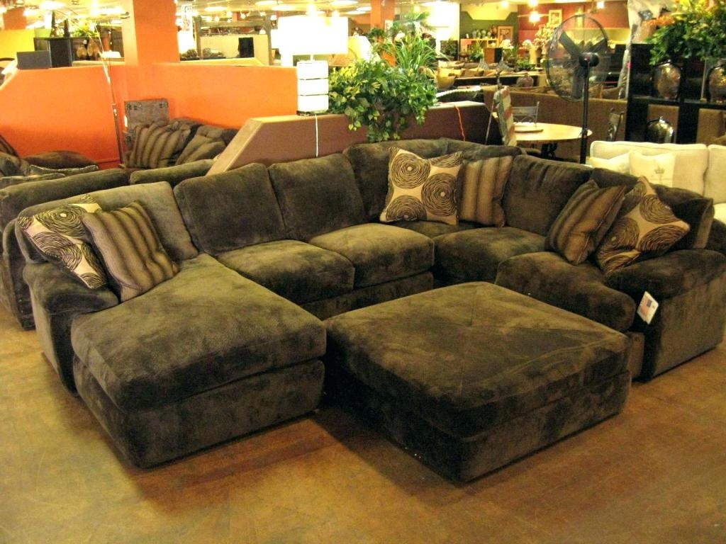 Oversized Couch Sa Throw Pillows With Ottoman Huge Sectional Within Famous Sectionals With Oversized Ottoman (View 8 of 15)