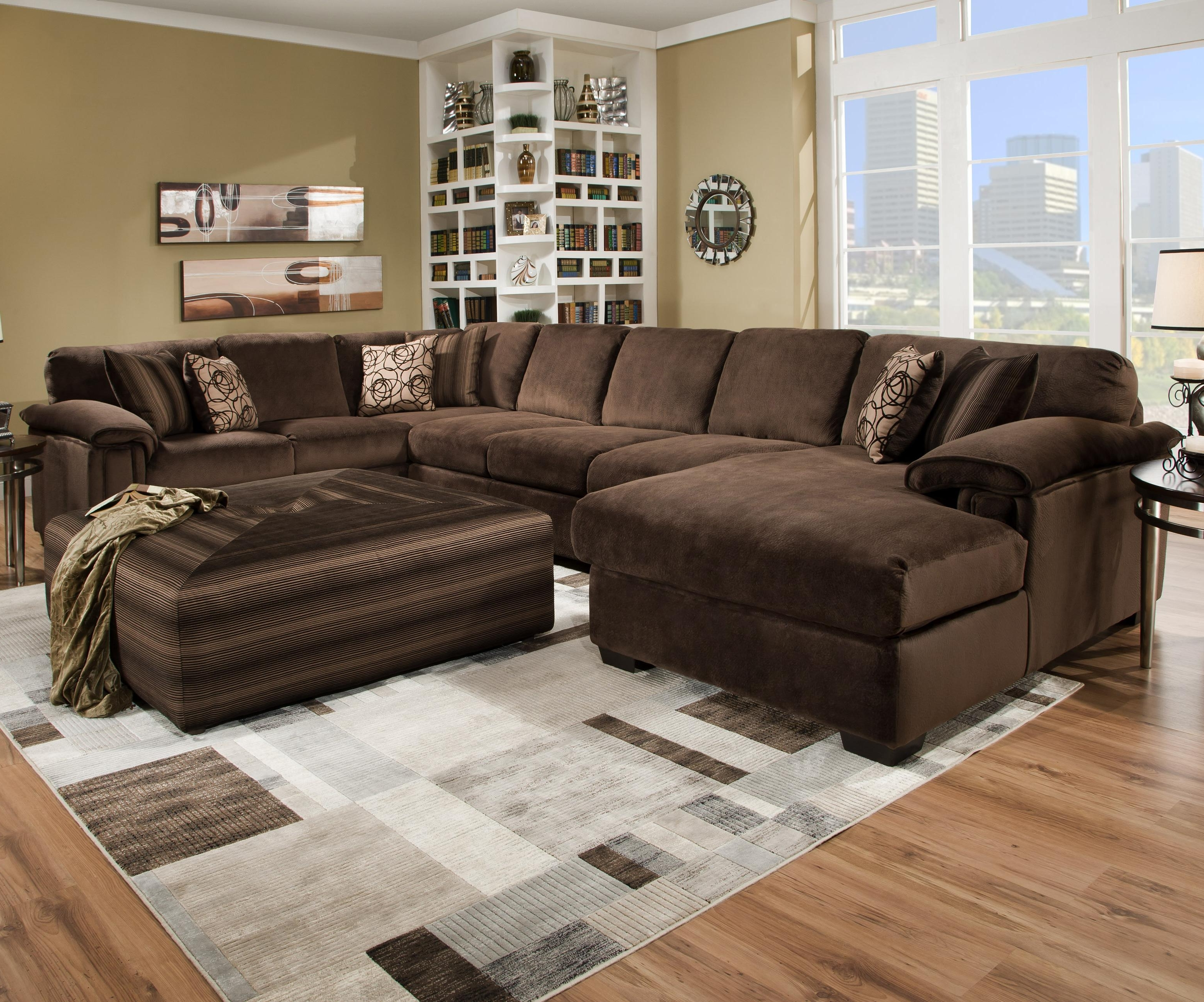 Oversized Ottoman Coffee Tables Within 2017 Sectional Sofas With Oversized Ottoman (View 9 of 15)