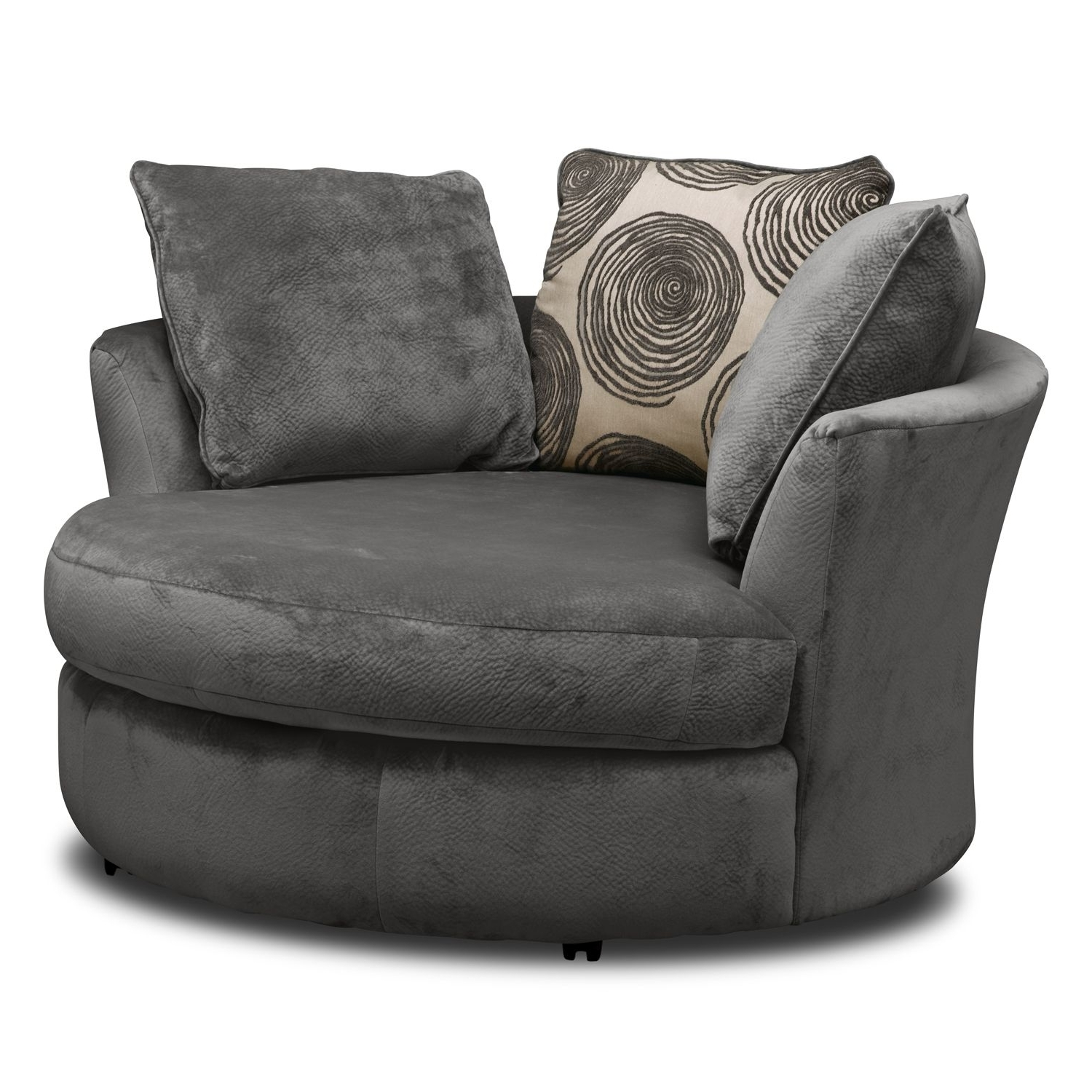 Oversized Round Swivel Chair With With Regard To Big Round Sofa Chairs (View 12 of 15)