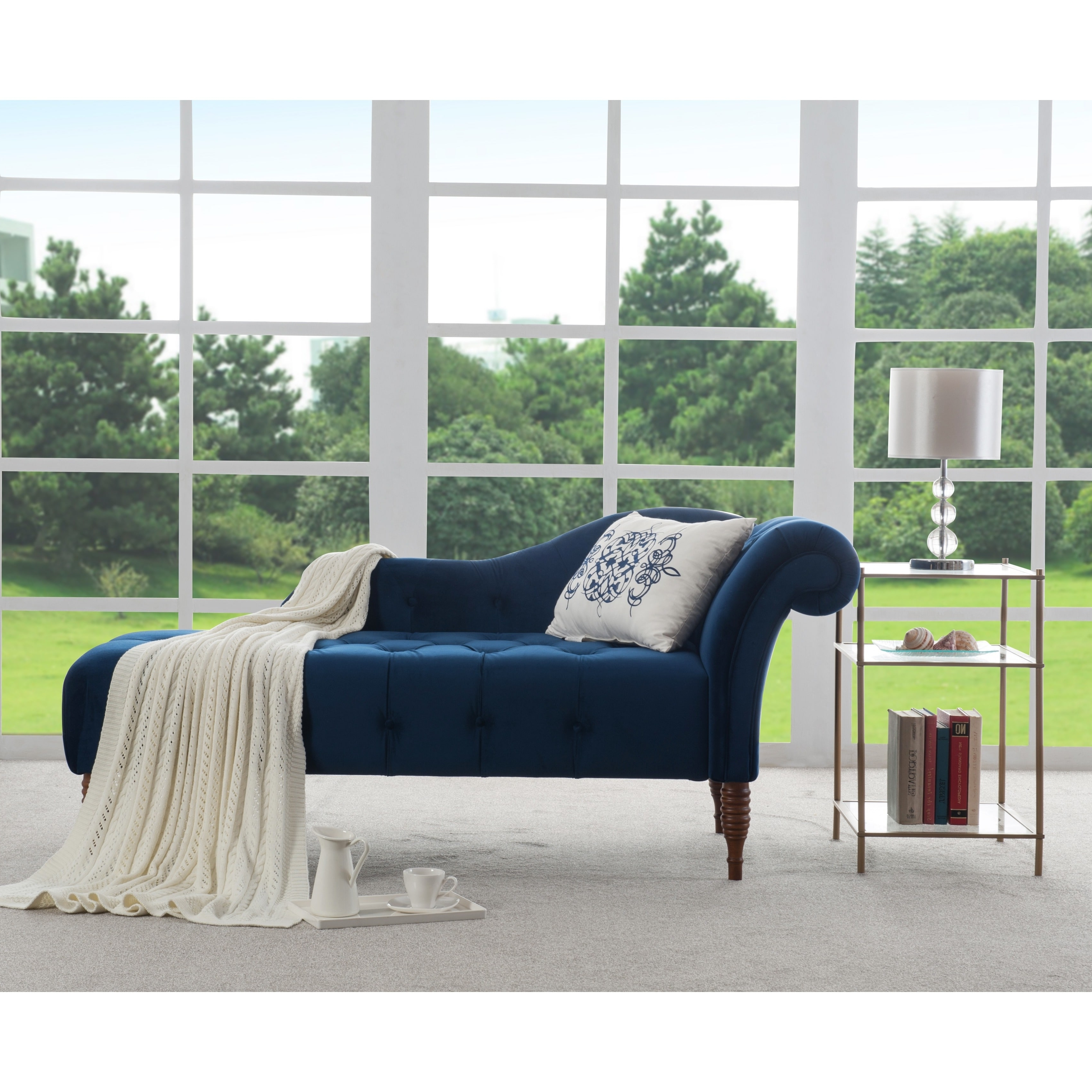 Overstock Chaises For Most Recent Jennifer Taylor Samuel Tufted Chaise Lounge – Free Shipping Today (View 14 of 15)