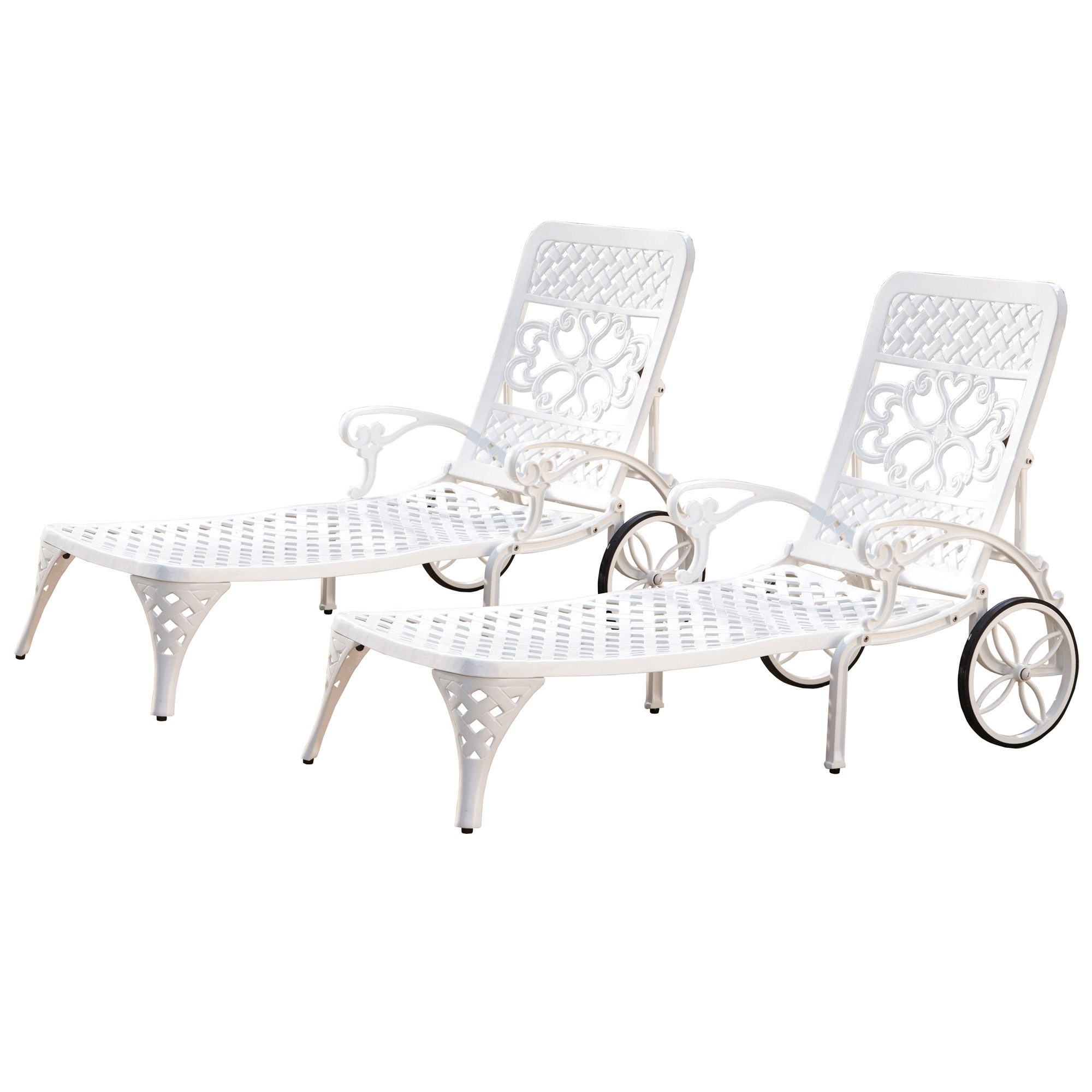 Overstock Outdoor Chaise Lounge Chairs Pertaining To Latest Gracewood Hollow Rasmussen Chaise Lounge Chairs (Set Of 2) – Free (View 10 of 15)