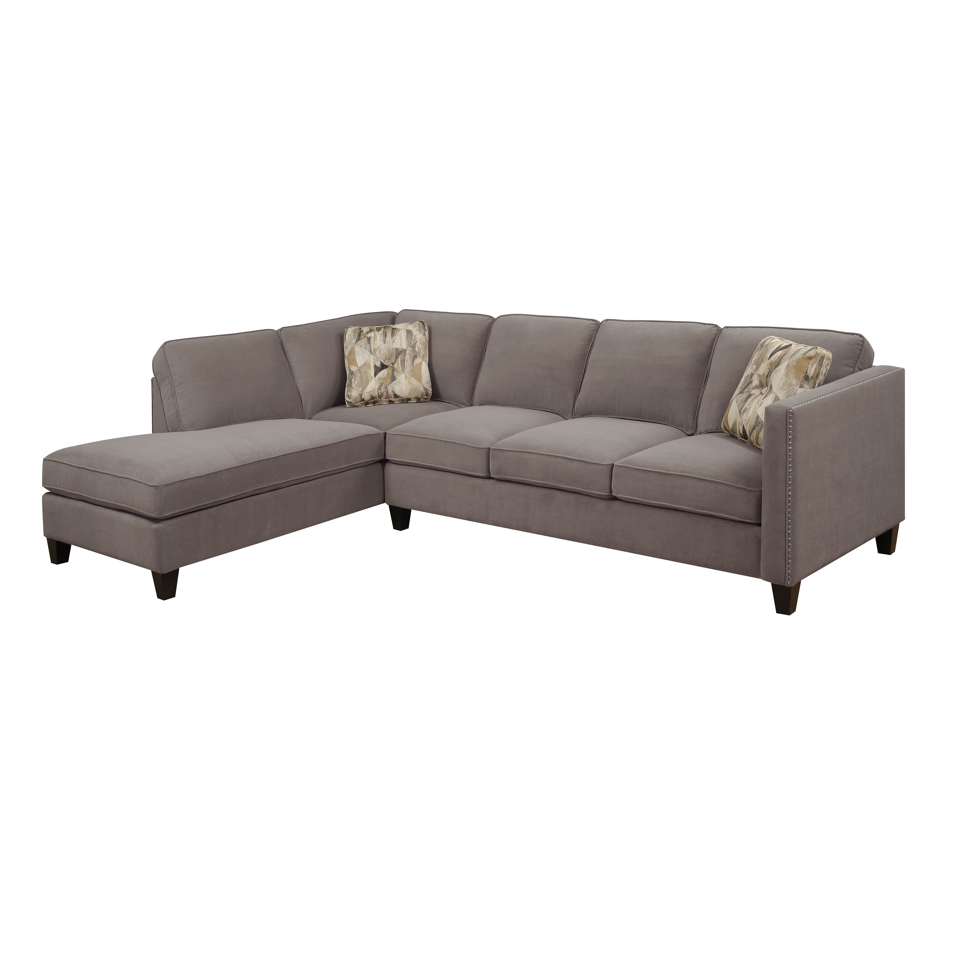 Overstock Sectional Sofas Throughout 2018 Emerald Home Focus 2 Piece Sectional Sofa With Chaise (View 7 of 15)