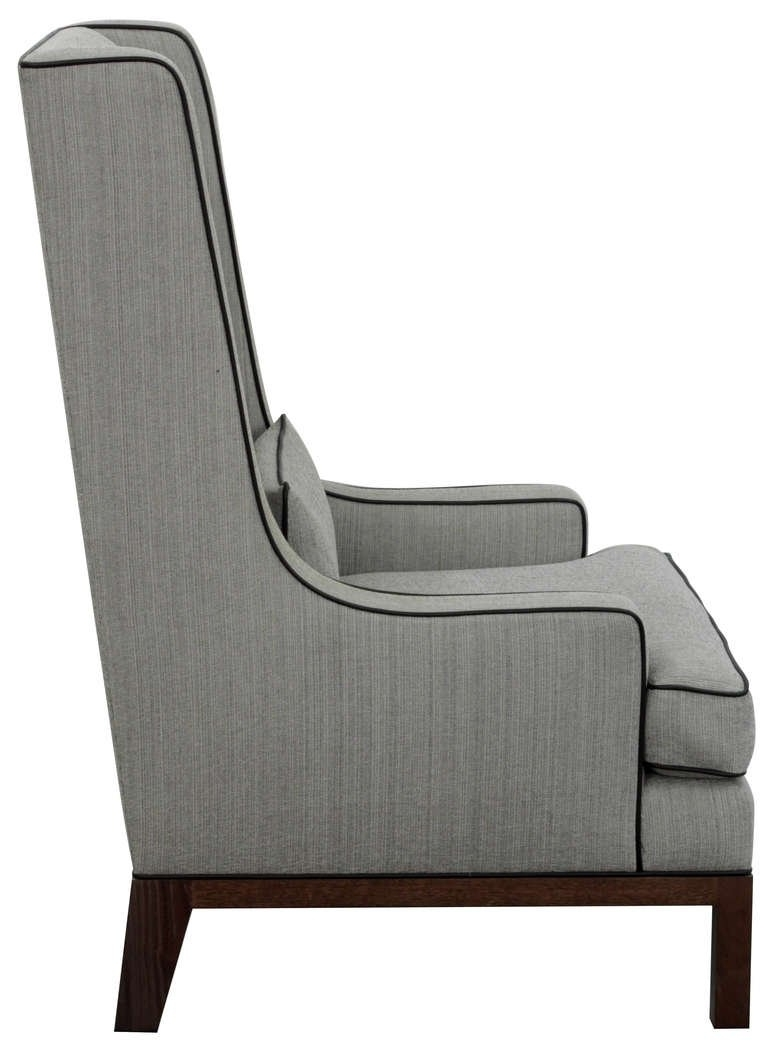 Pair Of Custom High Back Lounge Chairsthad Hayes At 1Stdibs For Most Recent High End Chaise Lounge Chairs (View 13 of 15)