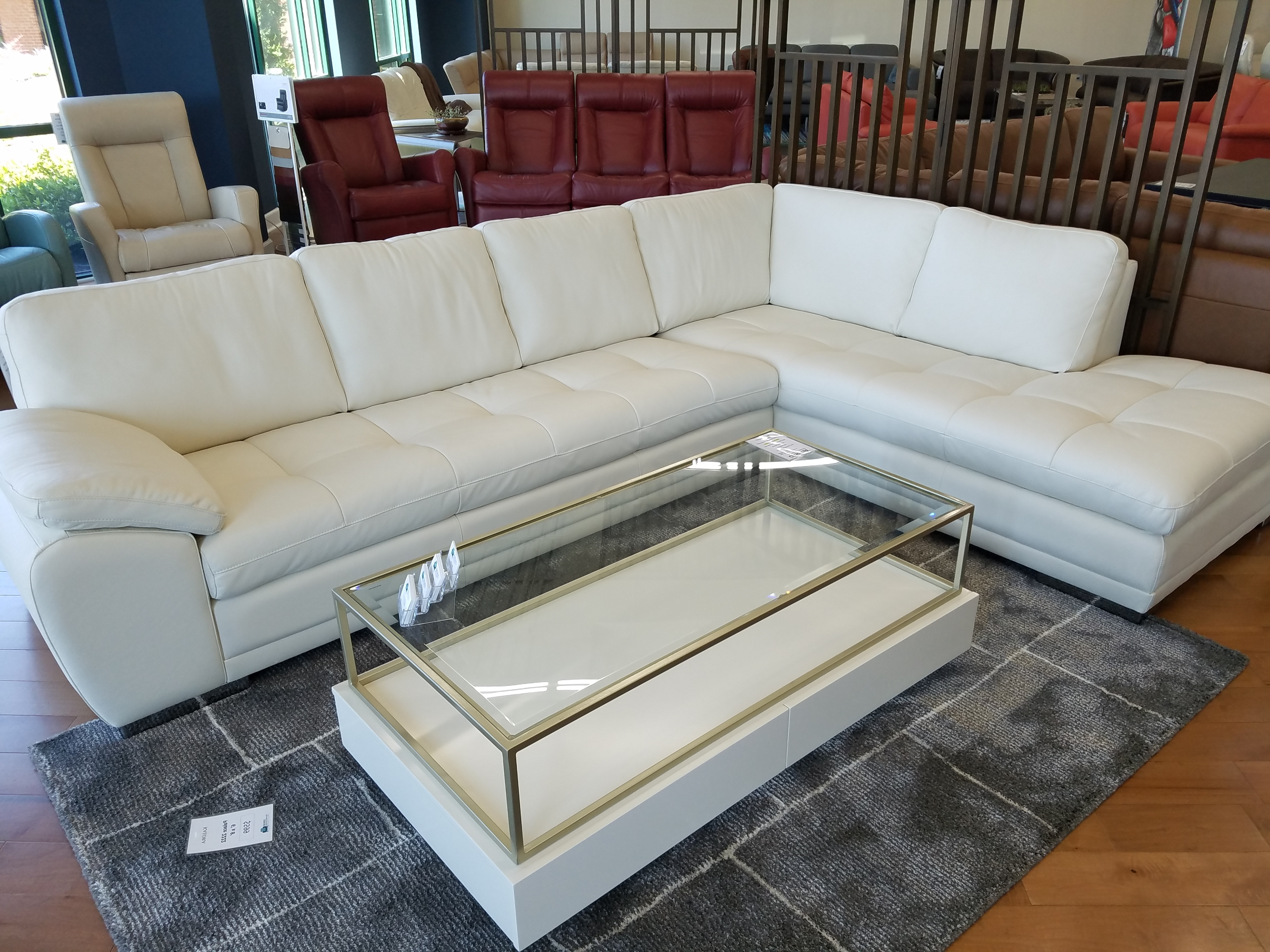 Palliser Miami Sectional Lhf Chaise Bumper And Rhf Sofa Leather With Regard To Fashionable Miami Sectional Sofas (View 11 of 15)