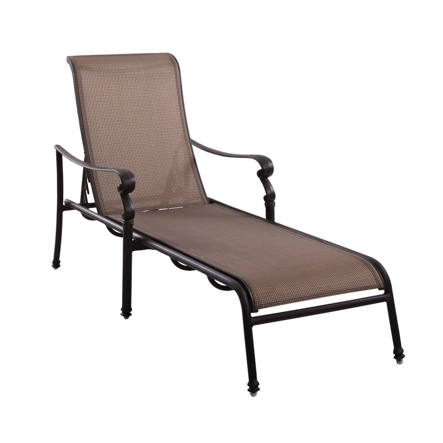 Patio Chaise Lounge Chairs In Latest Shop Darlee Monterey Antique Bronze Aluminum Patio Chaise Lounge (View 12 of 15)