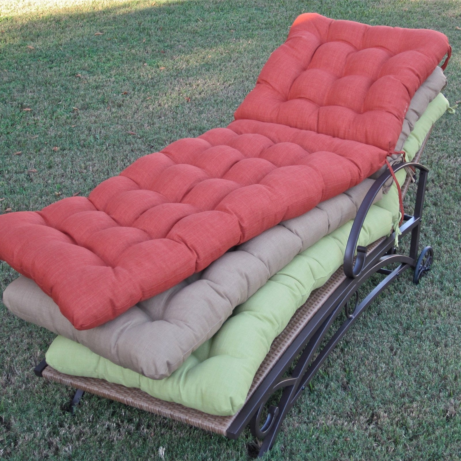 Patio Chaise Lounge Cushions In 2018 Coral Coast Classic 69 X 19.5 In (View 6 of 15)