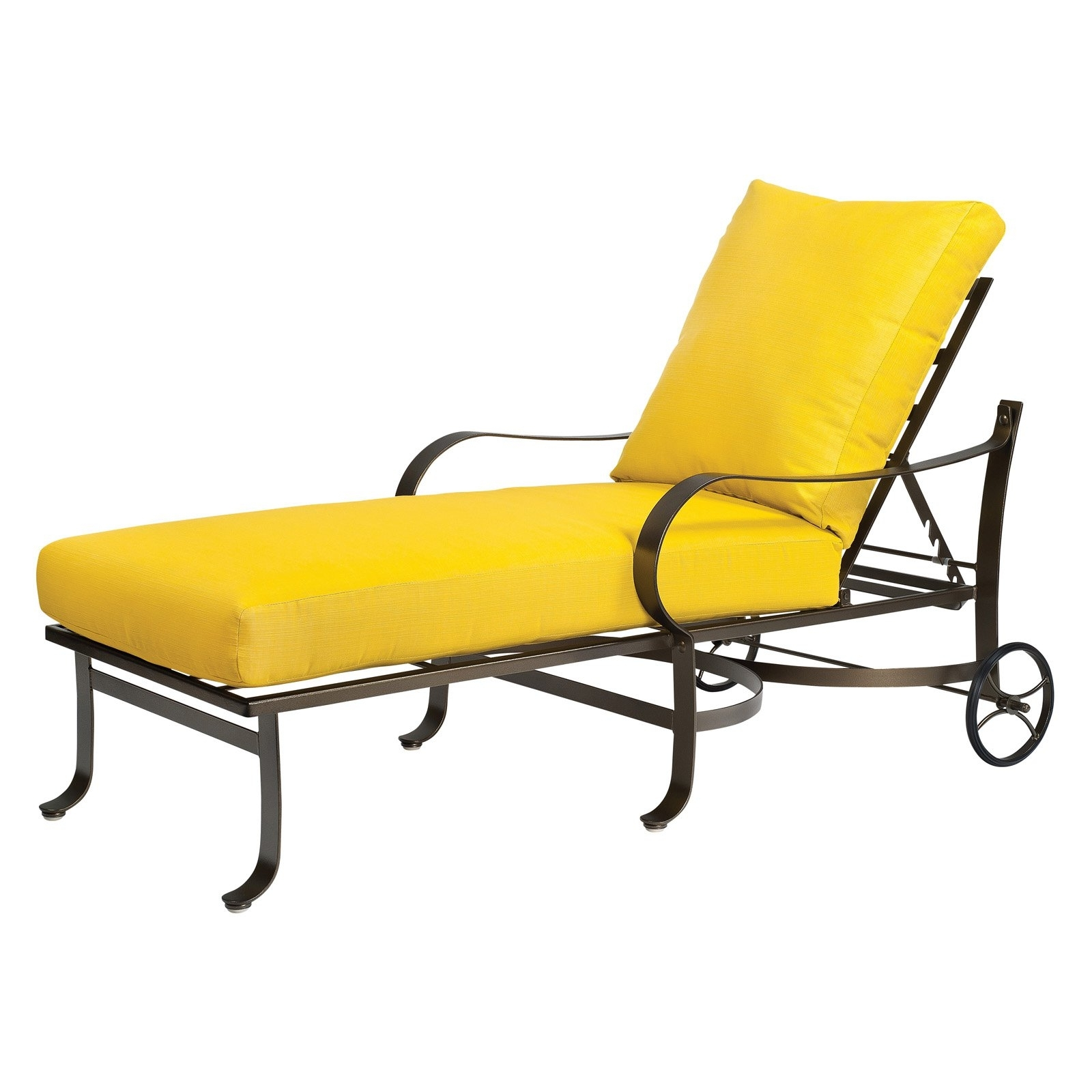 Patio Chaise Lounge Cushions Throughout Favorite Yellow Lounge Chair Cushions • Lounge Chairs Ideas (View 7 of 15)