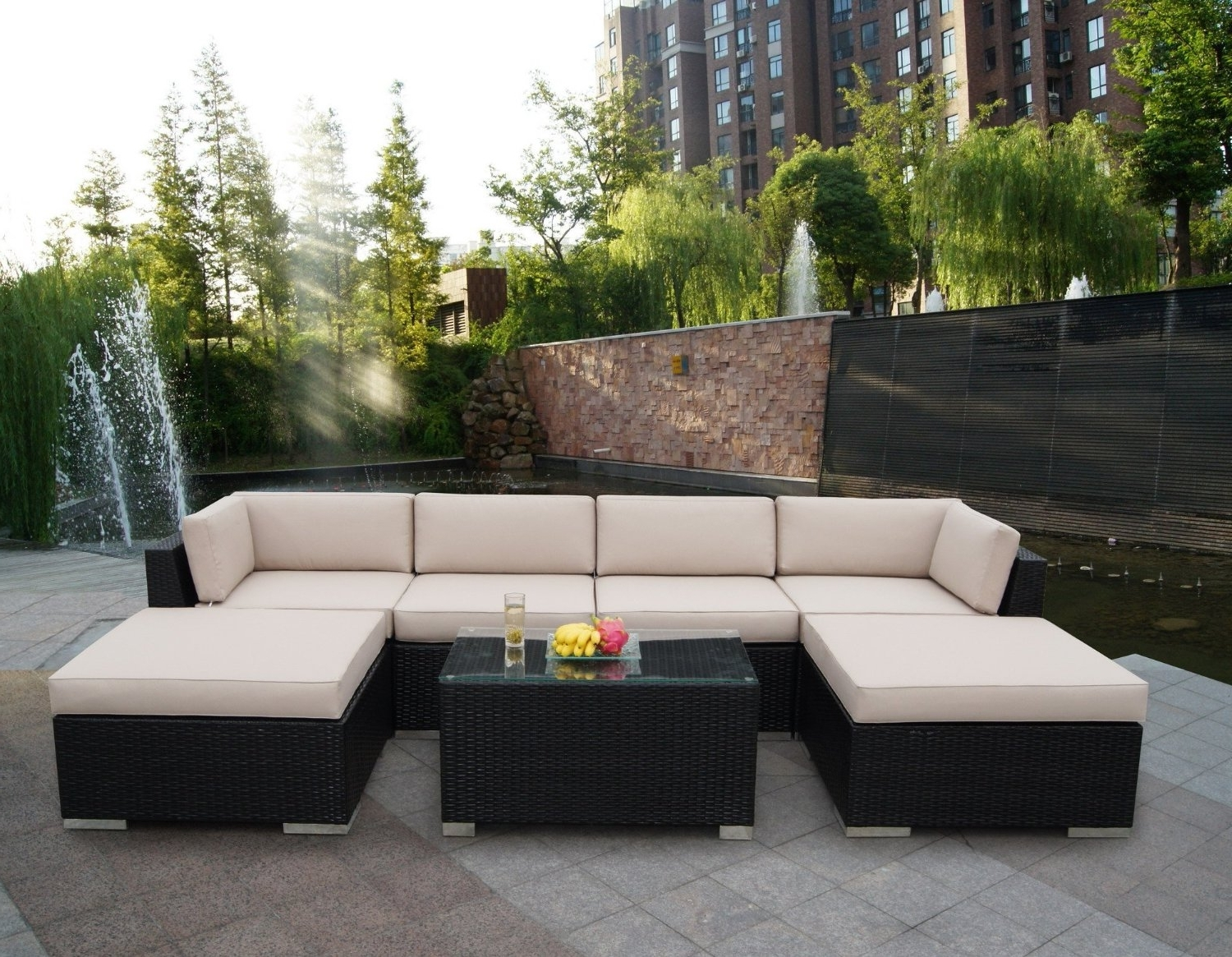 Patio Sofas Inside Most Up To Date Enjoy Having Outdoor Patio Sets At Your Lawn – Bellissimainteriors (View 14 of 15)