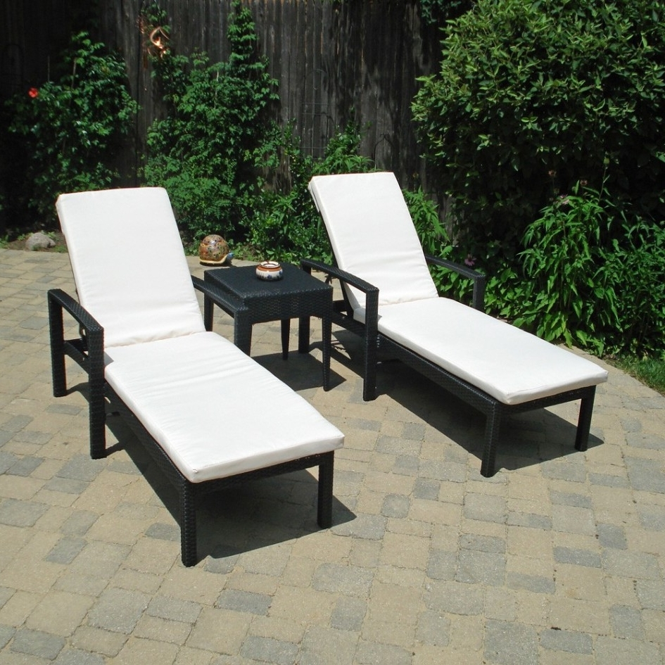 Featured Photo of Black Outdoor Chaise Lounge Chairs