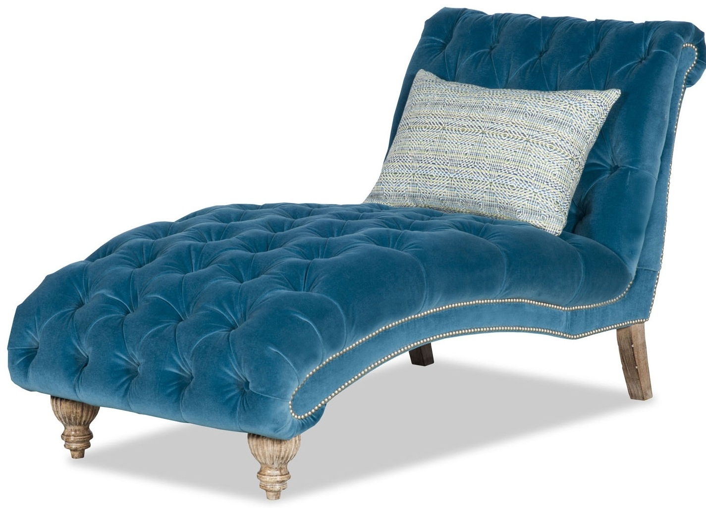 Peacock Blue Chaise Lounge With Regard To Well Known Turquoise Chaise Lounges (View 11 of 15)