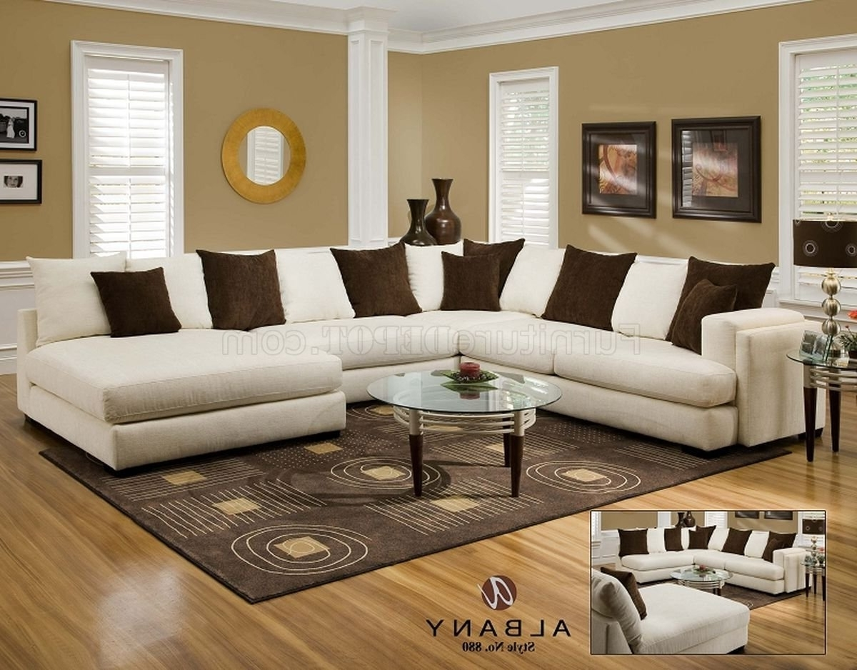 Pensacola Fl Sectional Sofas In Widely Used Cover Girl Pearl Fabric Modern Sectional Sofa W/options (View 5 of 15)
