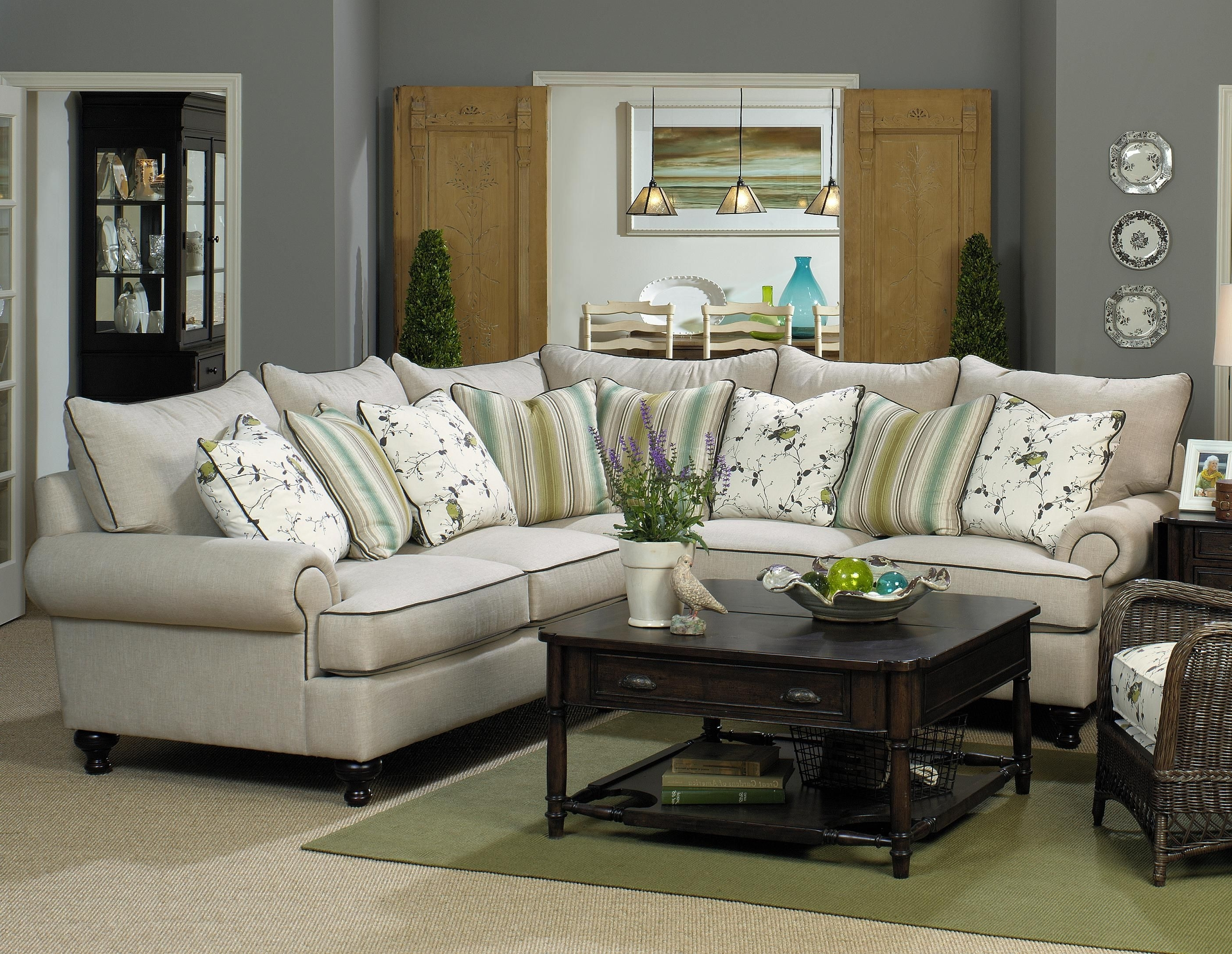 Pensacola Fl Sectional Sofas Within Newest Paula Deen Home 2 Piece Sectional Sofapaula Deenuniversal (View 9 of 15)