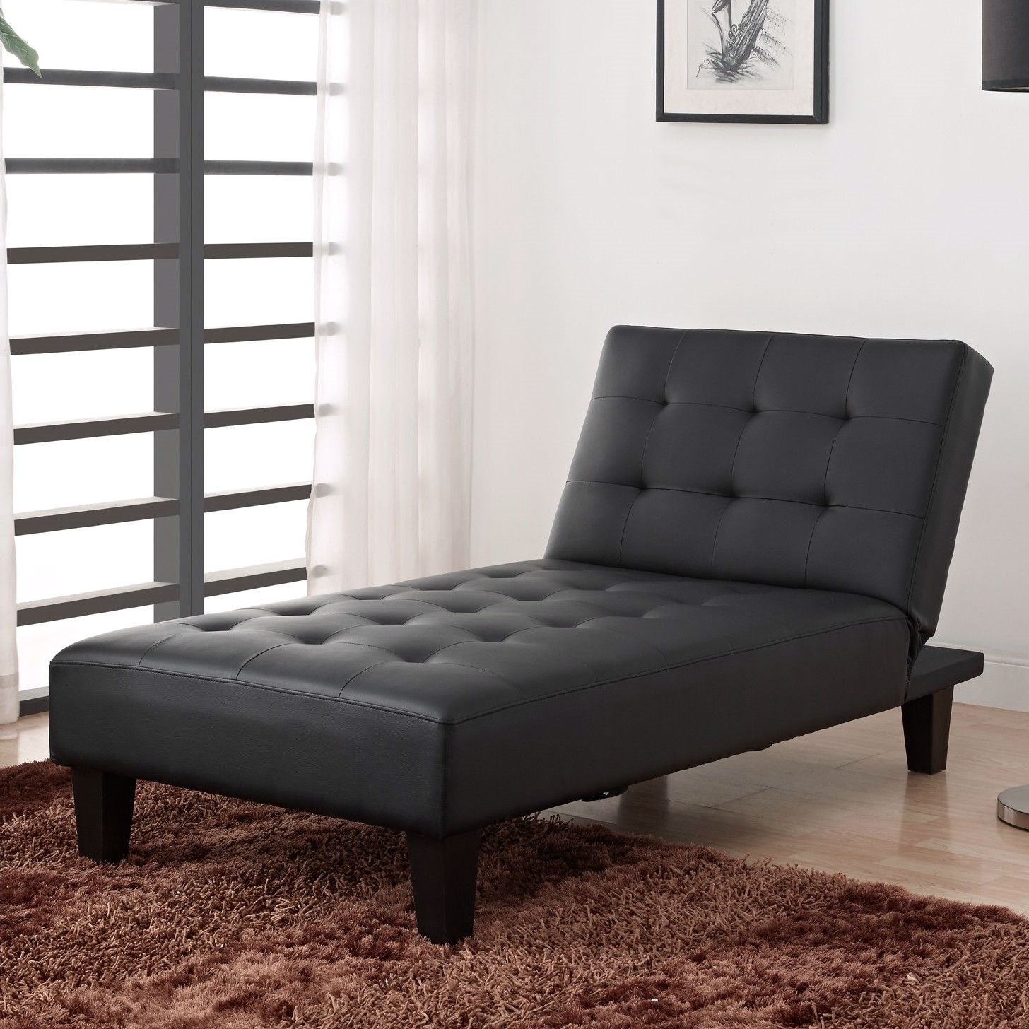 Perfect Black Chaise Lounge Style — Awesome Homes In Best And Newest Black Leather Chaise Lounges (View 11 of 15)