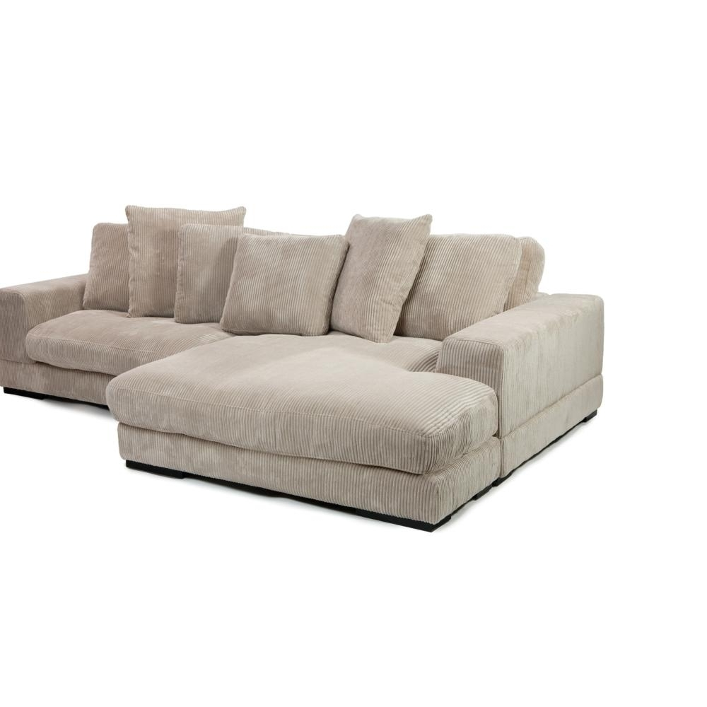 Plunge Sectional In Cappuccino Corduroy Fabric – Simply Austin Pertaining To Popular Sectional Sofas At Austin (View 14 of 15)