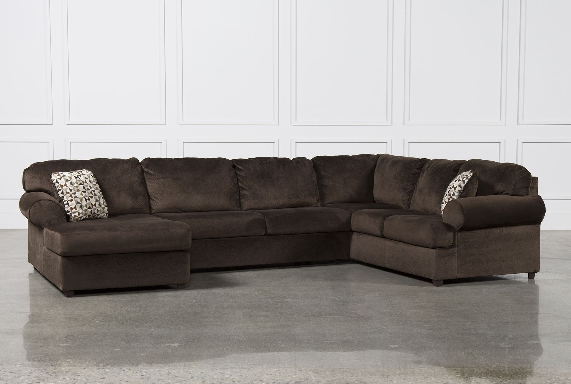 Plush Sectional Sofas – Tourdecarroll For Latest 3 Piece Sectional Sleeper Sofas (View 14 of 15)