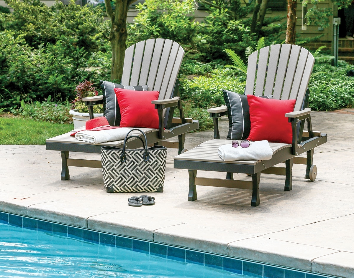 Poly Lumber Comfo Back Chaise Lounge With Best And Newest Polywood Chaise Lounges (View 6 of 15)