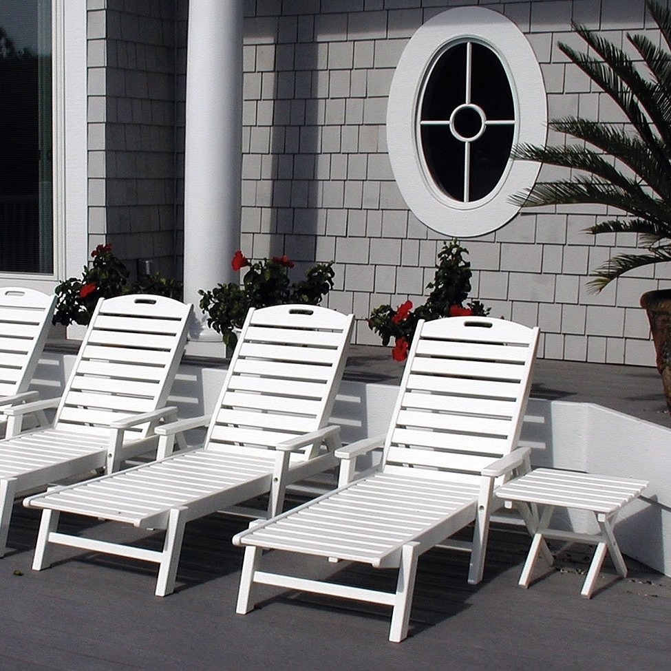 Polywood Chaise Lounges Throughout Latest Polywood Nautical Chaise Lounge – Nautical Collection – Polywood (View 11 of 15)
