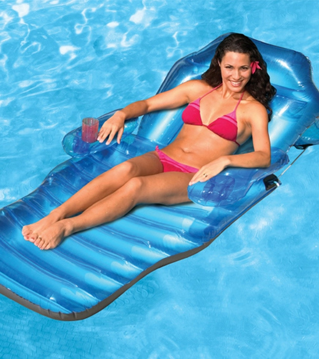 Poolmaster Adjustable Chaise Floating Pool Lounge At Swimoutlet Intended For Most Recently Released Floating Chaise Lounges (View 5 of 15)