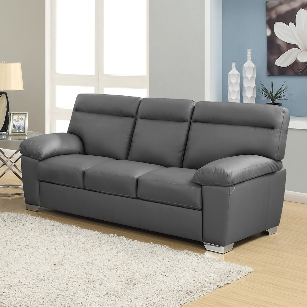 Popular 3 Seater Leather Sofas With Regard To Dark Grey Leather Sofa Check More At Http://casahoma/dark Grey (View 12 of 15)