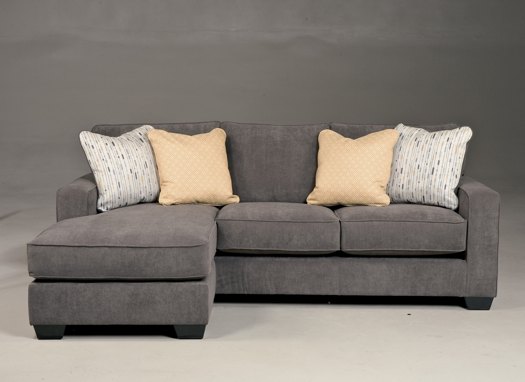 Popular $719 – Ashley – Hodan Marble Sofa With Chaise Good Fabric Good Within Cheap Chaise Sofas (View 7 of 15)