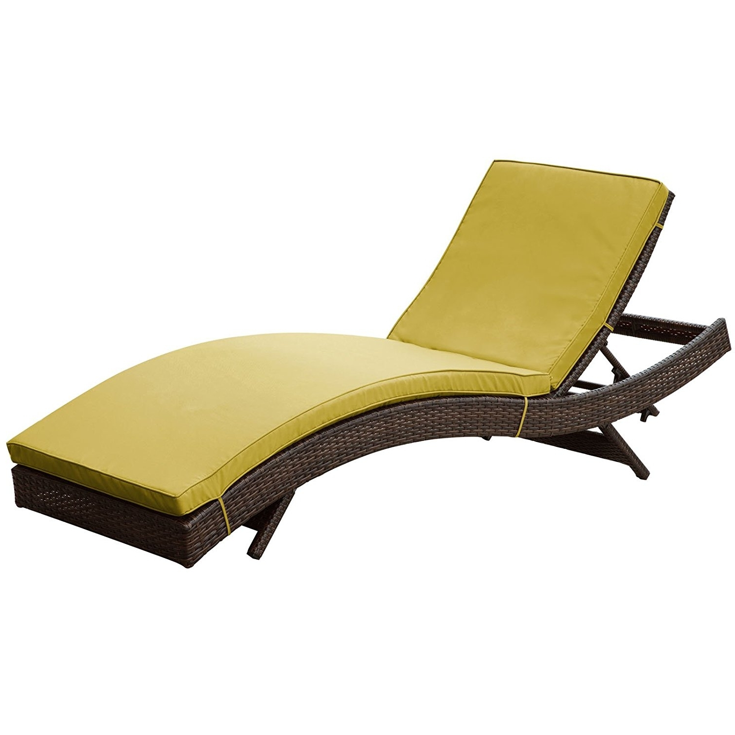 Popular Amazon: Modway Peer Outdoor Wicker Chaise Lounge Chair With Inside Rattan Chaise Lounges (View 9 of 15)