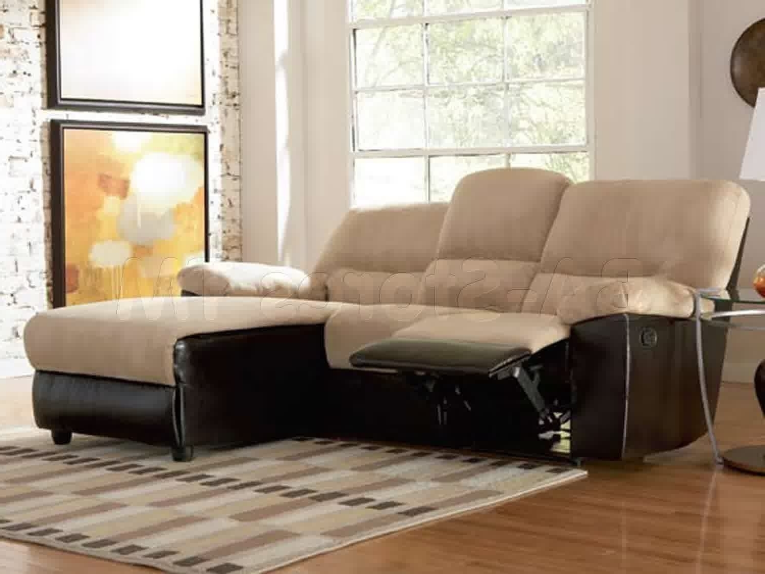 Popular Apartment Sectional Sofas With Chaise With Regard To Top Grain Leather Reclining Sectional Cheap Sectional Sofas (View 11 of 15)