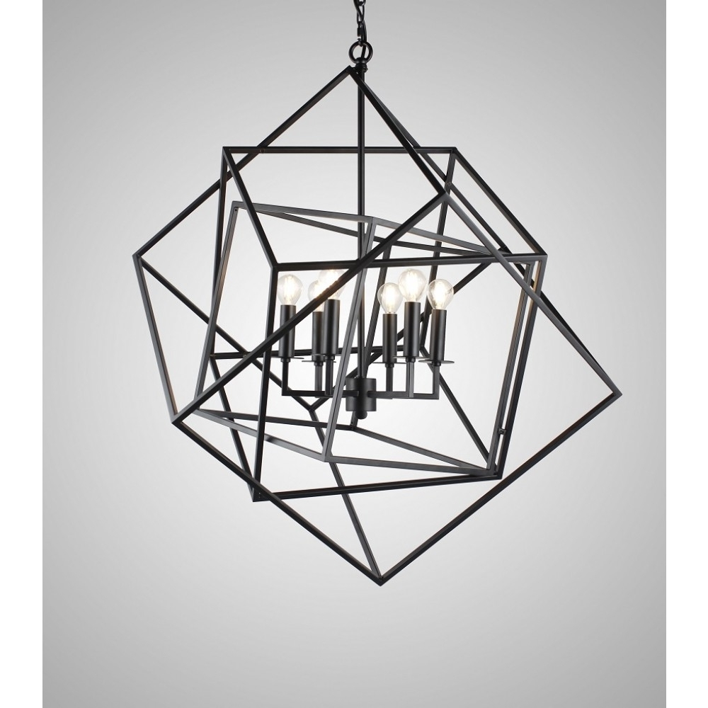 Popular Axis Chandelier Sputnik Lamp Smoke Crystal Bar Orbit Chandelier For Caged Chandelier (View 14 of 15)