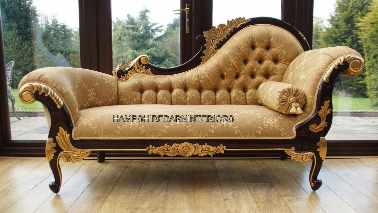 Popular Best Vintage Chaise Lounge With Upholster Dining Room Chairs Regarding Antique Chaises (View 13 of 15)