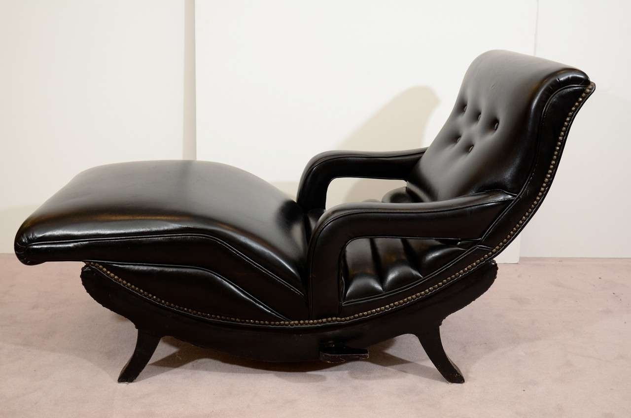 Popular Black Leather Chaise Lounge Sofa — Lustwithalaugh Design : Special For Black Leather Chaises (View 11 of 15)