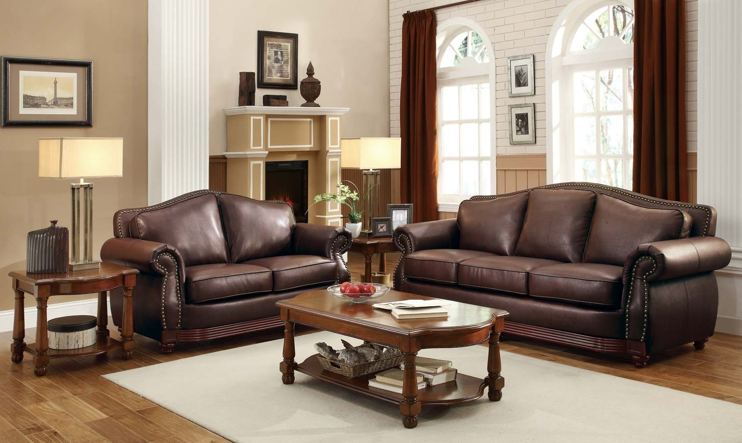 Popular Brown Sofa Chairs Regarding Homelegance Midwood Bonded Leather Sofa Collection – Dark Brown (View 13 of 15)