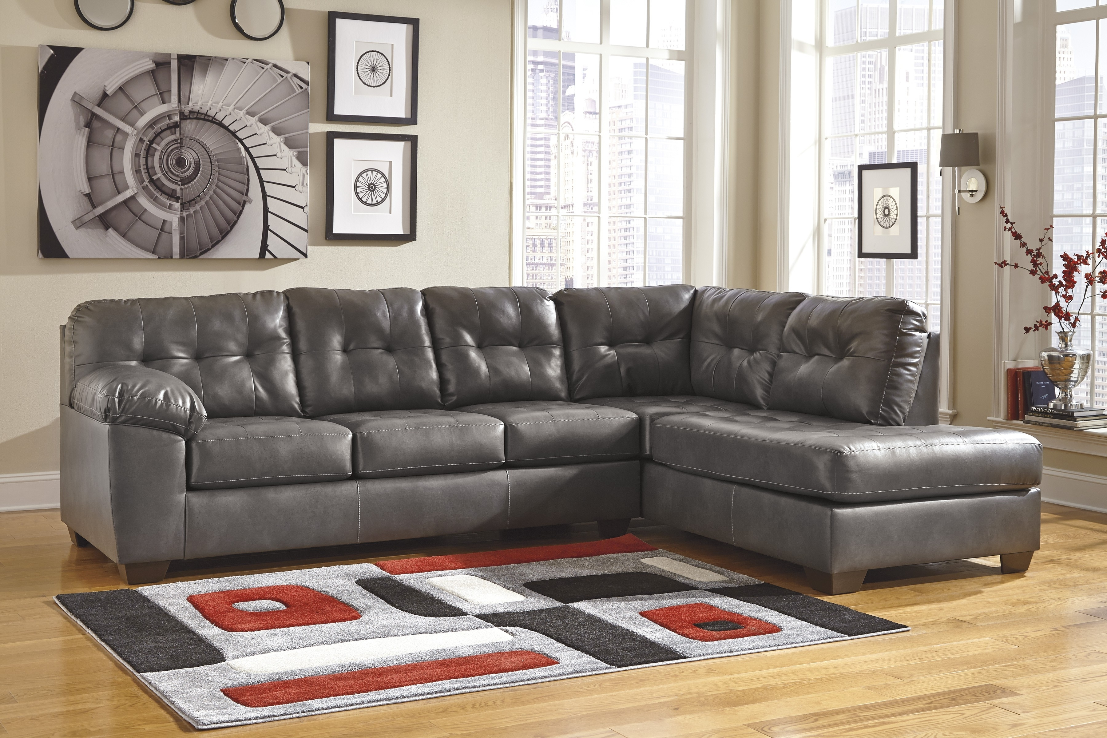 Popular Buy Alliston Durablend® – Gray Laf Corner Chaise With Raf Sofa In Raf Chaises (View 13 of 15)