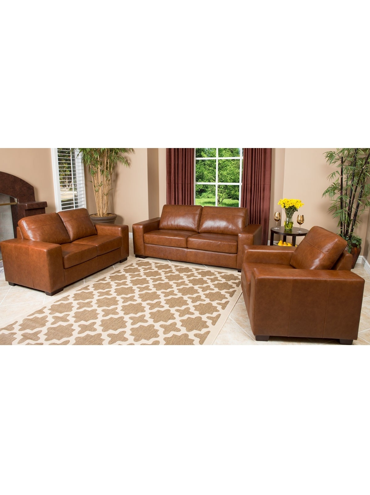 Popular Camel Colored Sectional Sofas With Regard To Leather Furniture Companies Pearce Camel Top Grain Couch F Living (View 12 of 15)