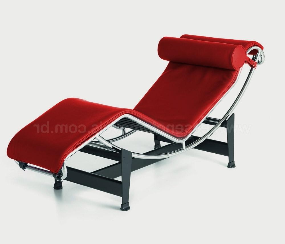 Popular Chaise Lc4 Vermelha Na Essência (View 12 of 15)
