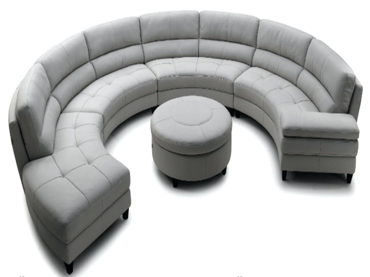 Popular Circular Sectional Sofa Sa Sas Bed Semi Circle Couches Modern With Round Sofas (View 5 of 15)
