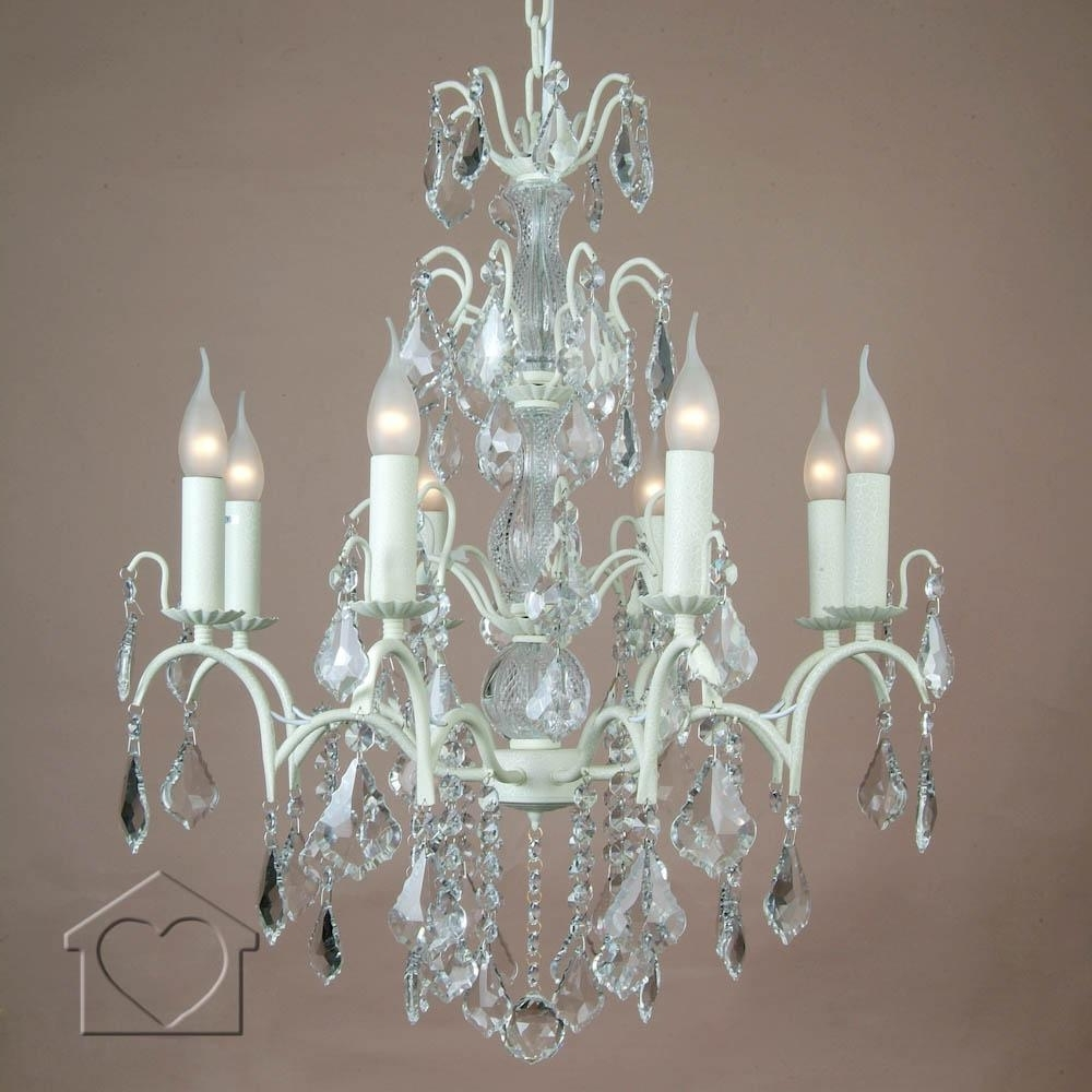 Popular Cream Chandeliers Pertaining To Large Cream Chandelier – £ (View 12 of 15)
