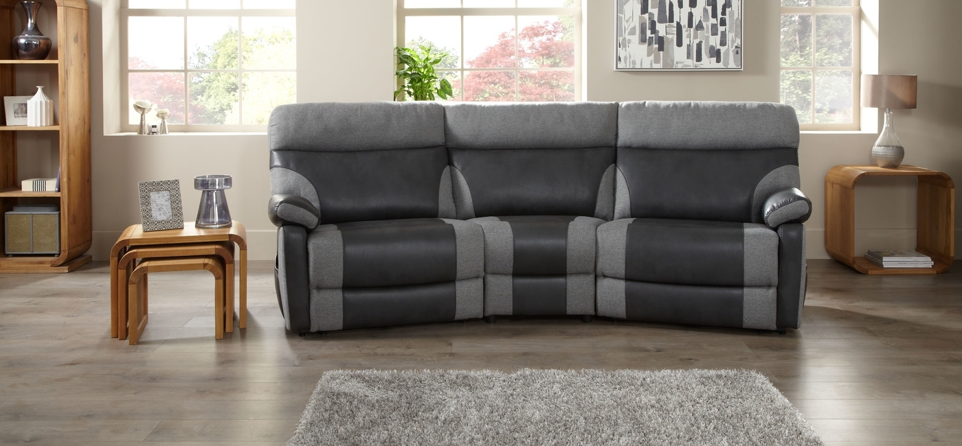 Popular Curved Recliner Sofas Regarding Fancy Curved Reclining Sofa 83 In Sofa Table Ideas With Curved (View 11 of 15)