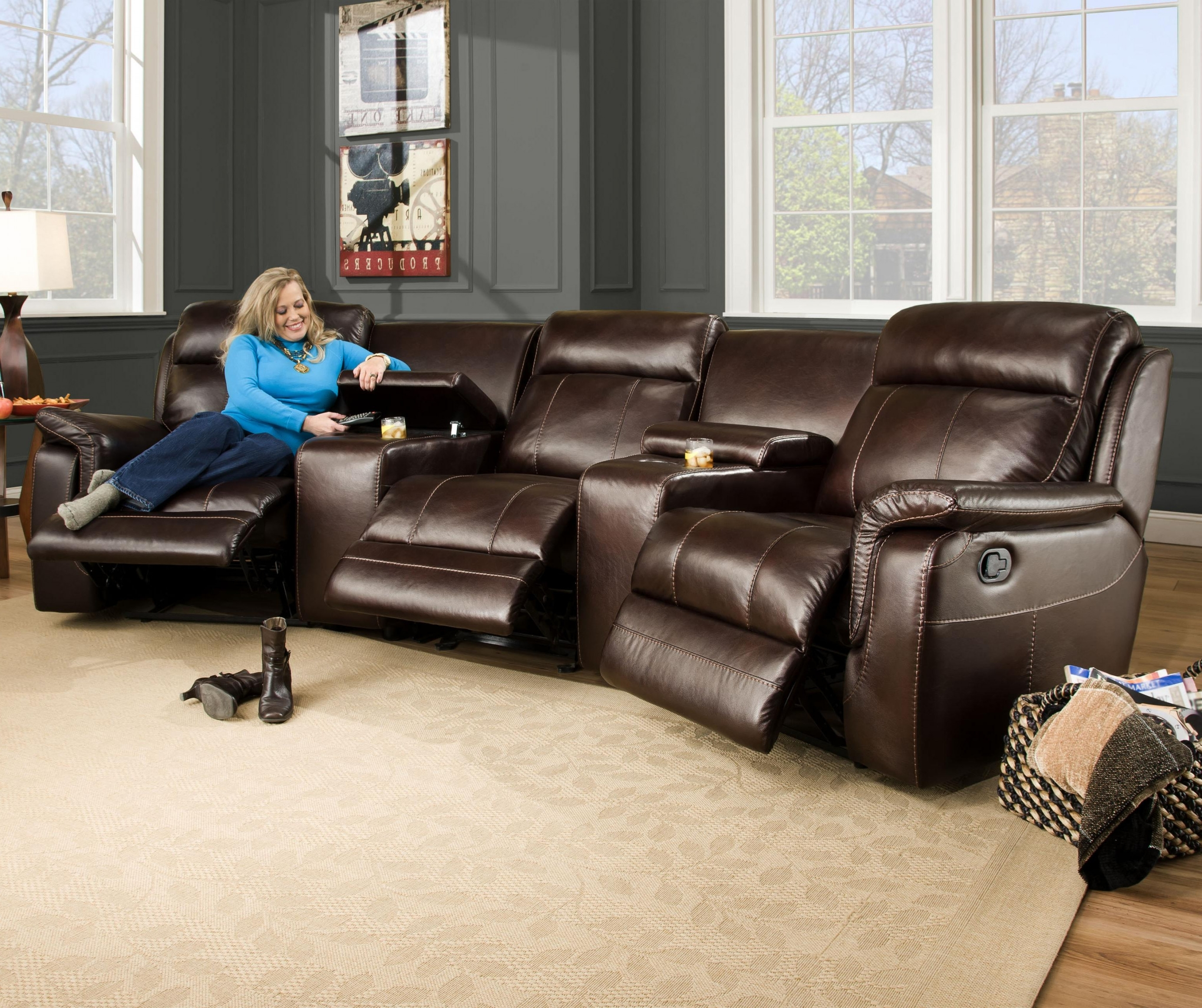 Popular Curved Sectional Sofas With Recliner Intended For Sectional Recliner Couch (View 2 of 15)